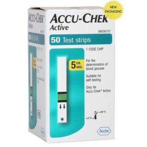 Accu-Chek Active Test Strips – 50 Glucometer