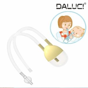 DALUCI New Born Baby Safety Nose Cleaner Vacuum Suction Nasal Aspirator Bodyguard Flu Protection Accessories
