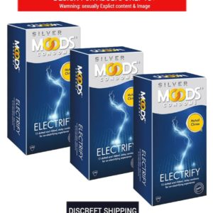 Moods Silver Electrify 3's (Pack of 10) Condom  (Set of 3, 30S)