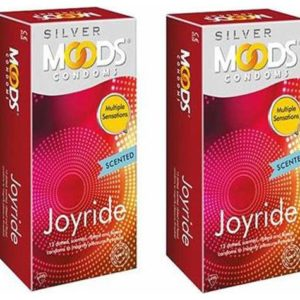 Moods silver joyride condom (Pack of 10) Condom  (Set of 3, 30S)